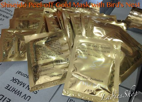 Masker Shiseido Gold Asli buy free shipping 40pcs new shiseido peel gold mask with birds nest x40 deals for only rm29
