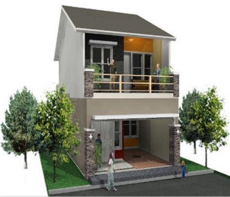 contoh gambar desain rumah minimalis type 45 1 dan 2 lantai cocok di perumahan desain rumah