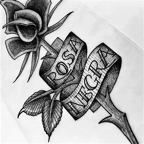 rosa negra tattoo