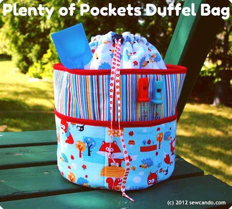Bag Of Plenty by Plenty Of Pockets Duffel Bag Free Downloadable Pattern