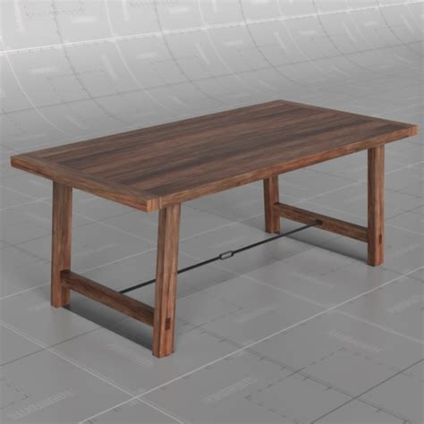 Benchwright Fixed Dining Table Benchwright Fixed Table 3d Model Formfonts 3d Models Textures