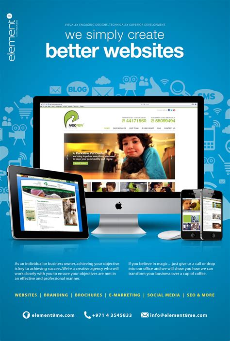 web layout branding web design ad published in dubai based pet magazine pet me