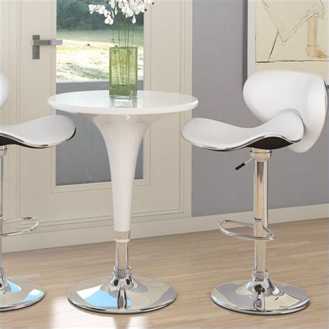 Indoor Bar Table Sonax Corliving 3 Height Bar Table Pub Set In White Contemporary Indoor Pub And Bistro
