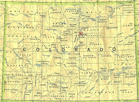 colorado map with cities colorado base map