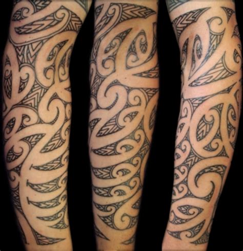reverse tribal tattoo joe s 3 4 maori sleeve