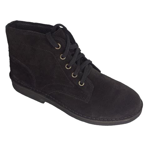 roamer mens black suede desert boots buy at marshall shoes