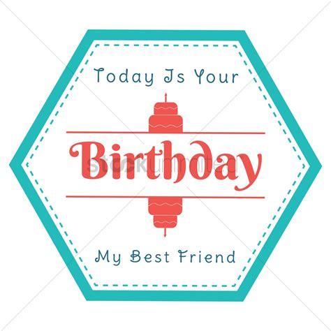 happy birthday sticker design happy birthday label design vector image 1799566