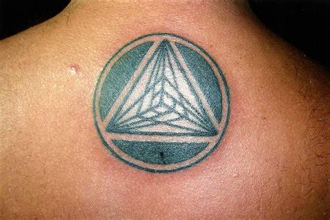 nice pyramid pattern big magic tattoo koh phangan thailand