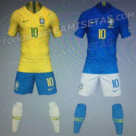 Brasil Mundial 2018 Novas Camisas Do Brasil 2018 Nike Copa Do Mundo Mantos