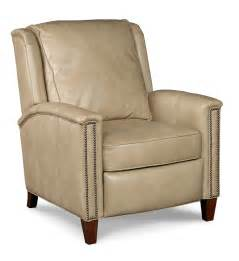 tweed leather recliner with nailhead trim earlas