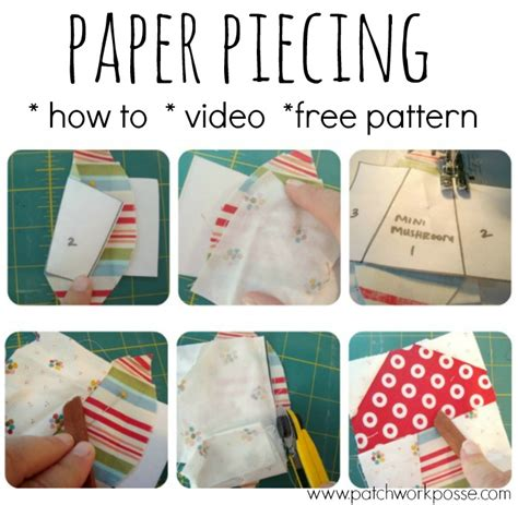 paper pattern of vdo paper piecing tutorial and video