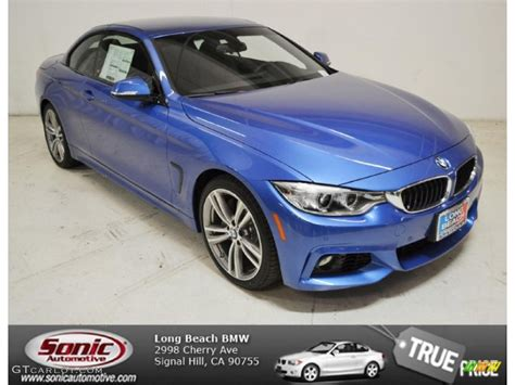 bmw blue colors 2014 estoril blue bmw 4 series 435i convertible 94639221