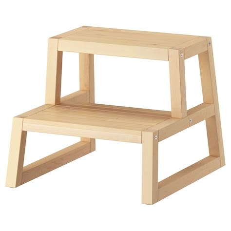 ikea step stool wood bethedreammemphis com molger step stool birch 41x44x34 cm ikea