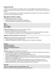 Resume Objective Statement For Students by Exle Resume November 2015