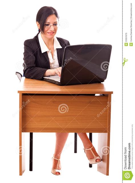 at desk royalty free stock photo