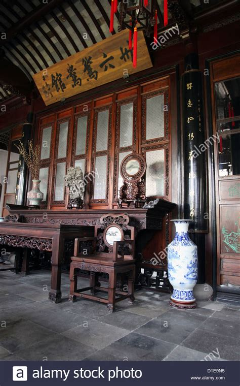 chinese house interior it s a photo of the interior of an old ancient chinese house in china stock photo