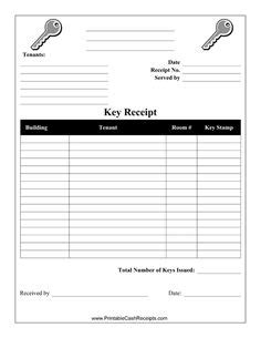 Employee Key Receipt Template by This 3 Per Page Receipt Template Has Yellow Receipts