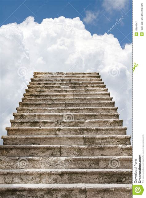 Old stairway to the clouds stock illustration ... Gates Of Heaven Design