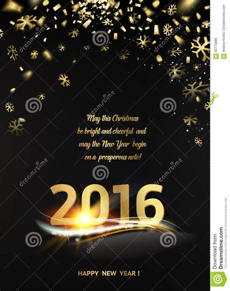 Happy New Year Photo Card Templates by Card Stock Photo Image 60775885