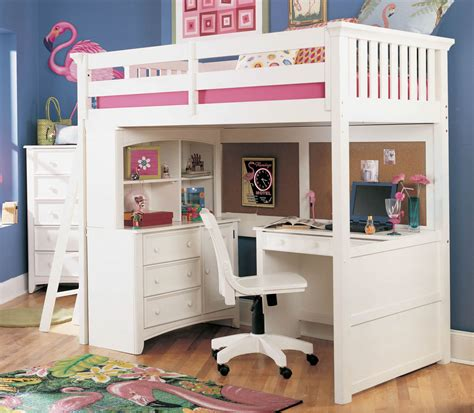 bunk loft with desk lea furniture getaway loft bed