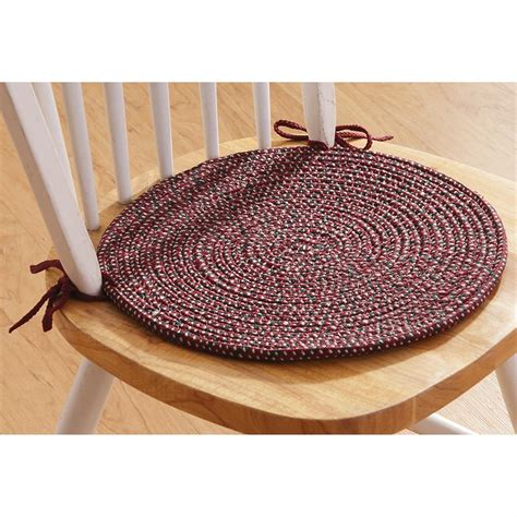 Braided Chair Pads For Kitchen Chairs by 4 Pk Of Braided Chair Pads 179864 Kitchen Dining