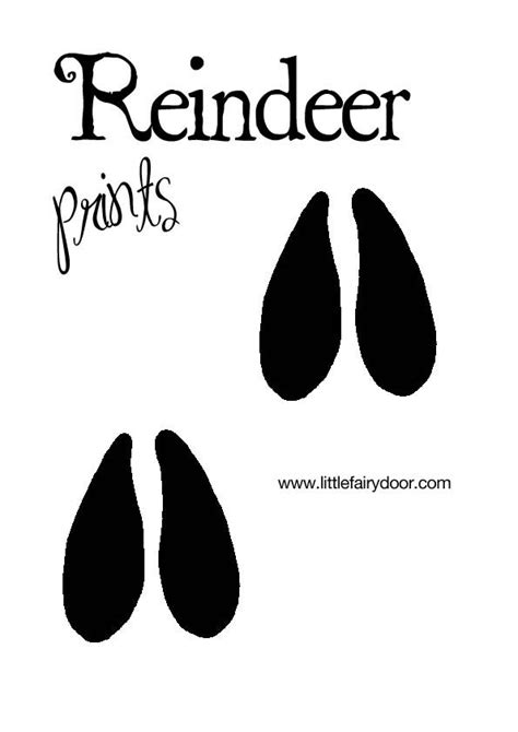 printable reindeer hoof prints 1000 images about christmas incl templates on pinterest