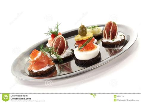 hors d oeuvre stock photo image of catering smoked 22707774