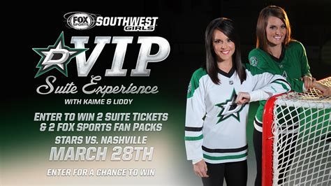 Fox 5 Sweepstakes - dallas stars vip suite sweepstakes with the fox sports southwest girls fox sports