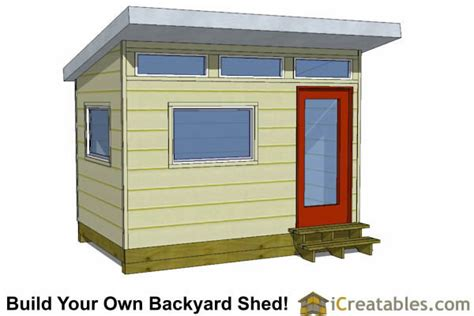 How To Build A 8x12 Shed by 8x12 Studio Shed Plans S2 8x12 Office Shed Plans Modern Shed Plans