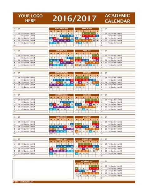 2018 16 academic calendar template monthly school calendar template gallery wedding theme