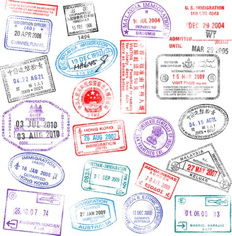 different passports template vector 04 vector label free