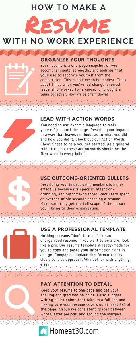 best 25 resume tips no experience ideas on