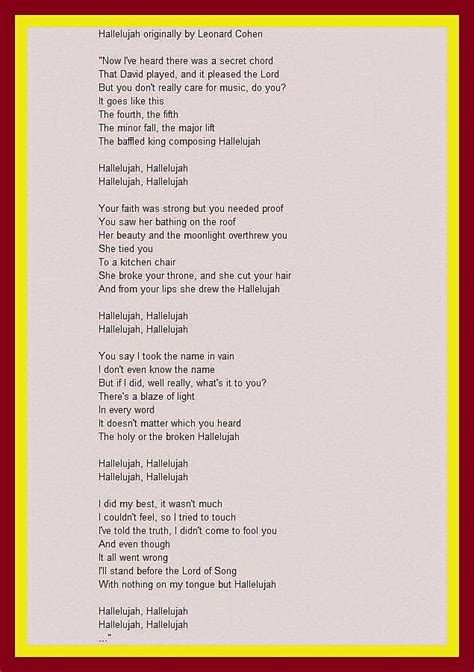 hallelujah karaoke full version the holy and the broken book about the song hallelujah