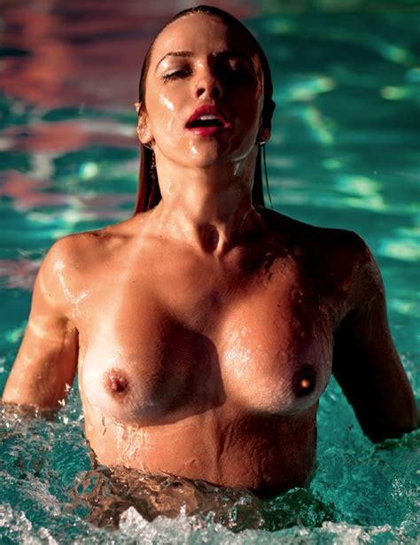 Karen Kounrouzan Naked Blonde In Playboy Brazil November