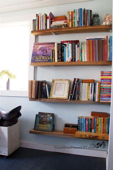 diy bookshelves easy diy barnwood bookshelves diyideacenter
