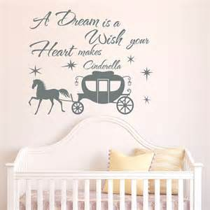 Cinderella Wall Stickers Cinderella Wall Decal Quote A Dream Is A Wish By Fabwalldecals