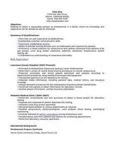 phlebotomy technician resume template resumes design