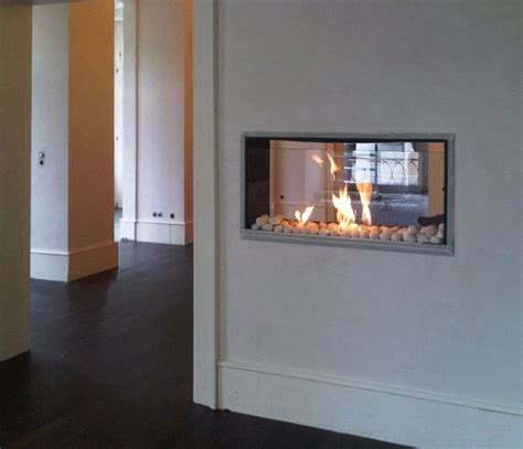 dual sided wood fireplace two sided ventless gas fireplace