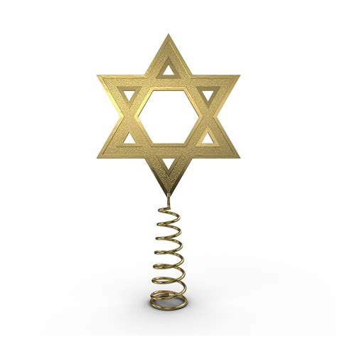 star of david tree topper 3d model max cgtrader com