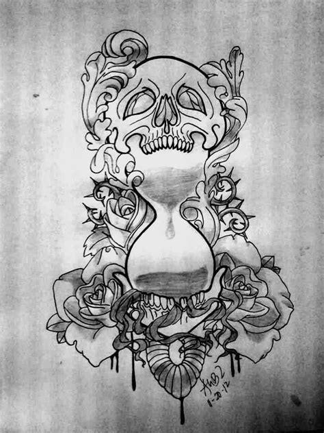 hourglass skull tattoo designs 12 cool hourglass design ideas
