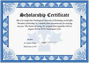 scholarship award template scholarship award certificate template word excel