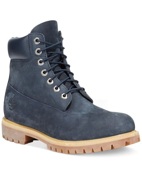 blue timberland boots mens timberland icon 6 quot premium boots in blue for lyst