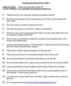 media questions list sle format for a typical media