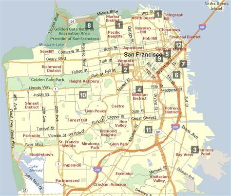 neighborhoods in san francisco map south san francisco neighborhood map michigan map