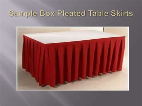 Table Cloth Bordir Ukuran 40x80 7 rekabentuk skirting meja kerusi skirting table chair design
