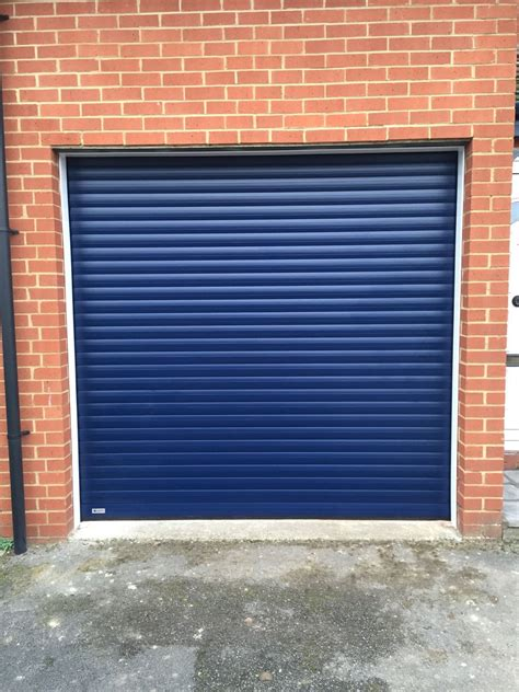 blue garage door navy blue roller garage door in thame shutter spec security