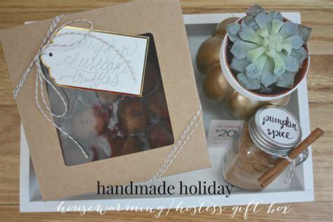 Handmade Hostess Gifts - handmade housewarming hostess gift box