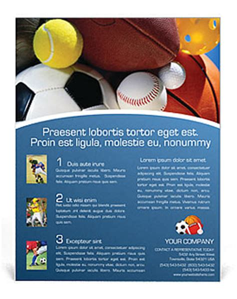 templates for sports flyers image gallery sports flyer