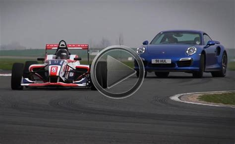 formula 4 car 2014 porsche 911 turbo s vs formula 4 race car