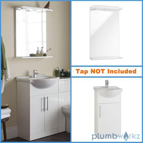 bathroom mirror units vanity units basins mirrors with down lights gloss white
